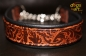 dogs-art Limited Edition Martingale Chain Leather Collar - black/embossed bronze