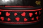 dogs-art Love Martingale Leather Collar - black/red/black