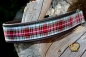 dogs-art Tartan Leather Dog Collar - Easy Release Buckle Aluminum