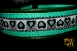 dogs-art Summer Fling Martingale Leather Collar - green/turquoise/summer fling