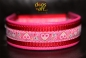 dogs-art Summer Fling pink Martingale Leather Collar - hot pink/red/pink