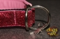 dogs-art Glitter pink Martingale Leather Collar - pink/black/glitter pink