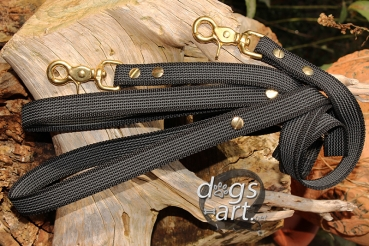 Grip it leash by dogs-art, 4ft dog leash, brass hardware