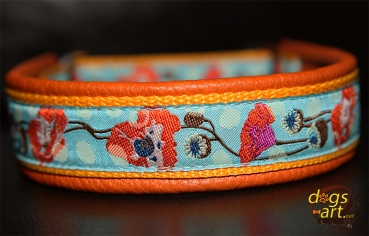 Dogs Art Net Dogs Art Poppy Martingale Leather Collar