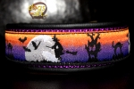 dogs-art Sweet or Sour Martingale Leather Collar - black/purple/sweetandsour