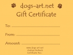 dogs-art Gift Certificate $25