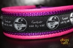 dogs-art SIDE BY SIDE Martingale Leather Collar - hotpink/purple/sidebyside